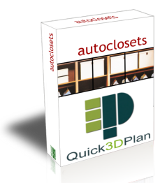 Quick3DPlan closet module main features. Design wardrobes with this add-on module for Quick3DPlan, our easy and affordable professional kitchen design software.