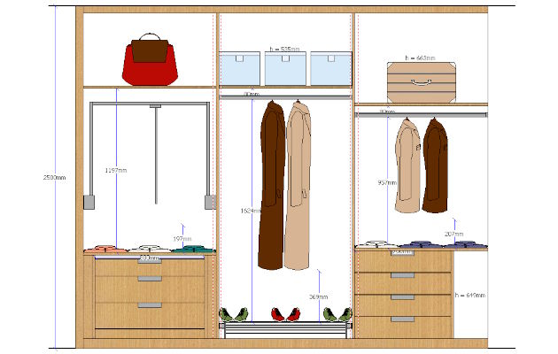 Closets elevations